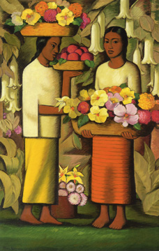 """Mujeres con flores"" by Martinez"