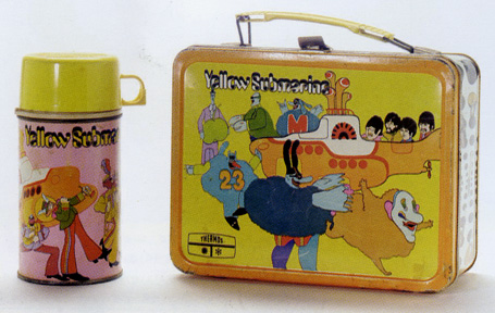 """Yellow Submarine"" thermos and lunchbox"
