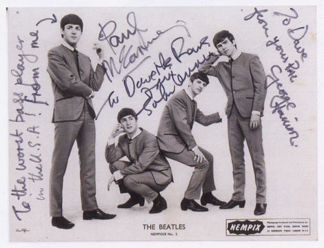 Inscribed publicity photograph of the Beatles