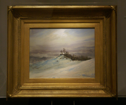 """Winter on the Hudson River near Catskill, New York"" by Church"