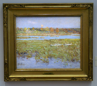 """Harvest Moon (Marsh and Meadow)"" by Hassam"