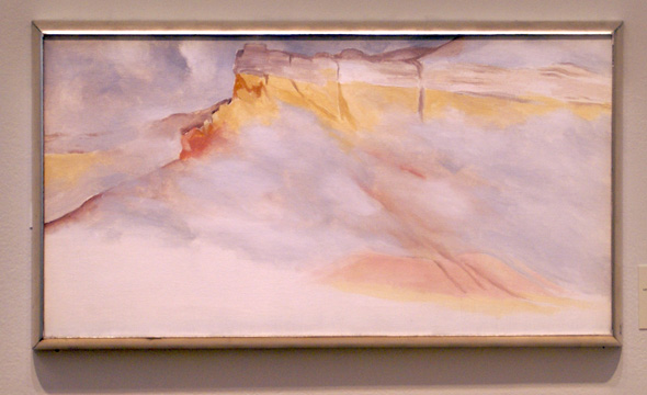 """Ghost Ranch Cliffs,"" by O'Keeffe"