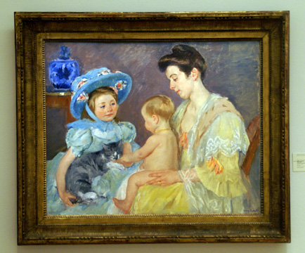 """Children Playing with a Cat"" by Cassatt"