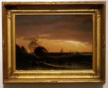 """Beached Ship"" by Bierstadt"