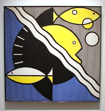 """Modern Painting with Fishes"" by Lichtenstein"