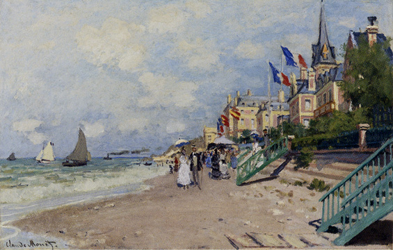 """La Plage � Trouville"" by Monet"