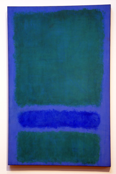 """Green, Blue, Green on Blue"" by Rothko"