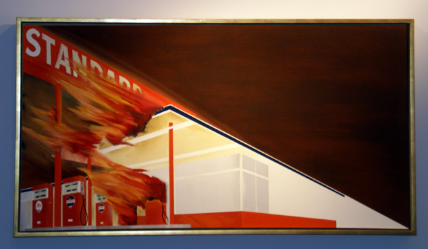 """Burning Gas Station"" by Ruscha"