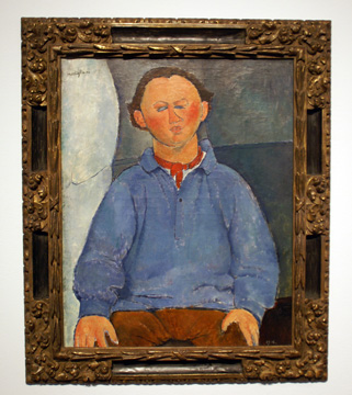 """Portrait du sculpteur Oscar Miestchaninoff"" by Modigliani"