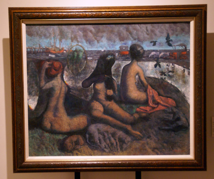 """Three Women at the Beach"" by Morales"