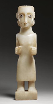 Alabaster figure of a Woman, Southern Arabia