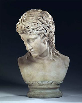 Marble bust of the Eros of Centocelle