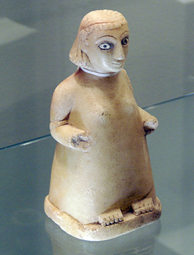 South Arabian alabaster female figure