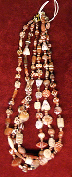 Western Asiatic carnelian necklace