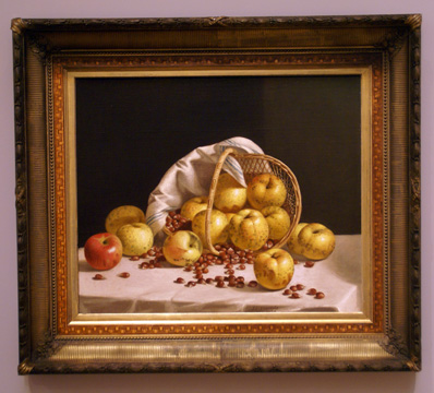 """Still Life: Yellow Applesand Chestnuts Spilling from a Basket,"" by Francis"