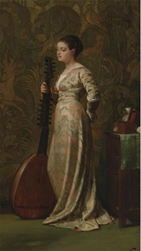 """Girl with a Lute"" by Vedder"