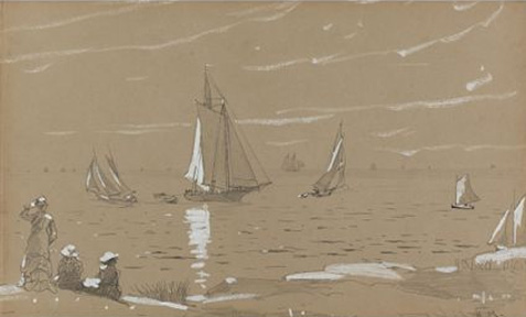 """Sailboats"" by Homer"