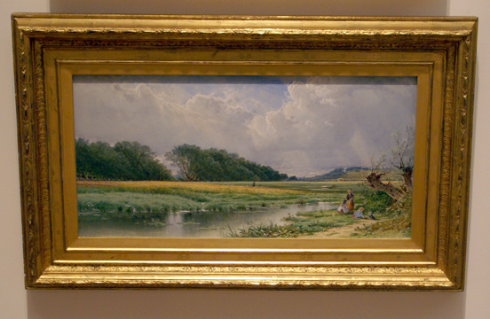 """On the Meadows of Old Newburyport"" by Bricher"
