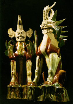Sancai-glazed earth spirits