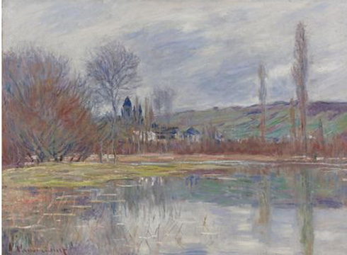 """Printemps � Vetheuil"" by Monet"