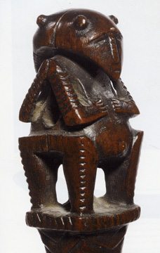 Austral Islands staff finial