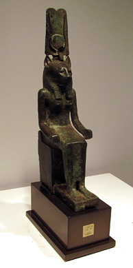 Egyptian bronze statue of Wadjet