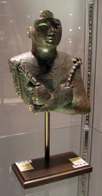Bronze bust of Osiris