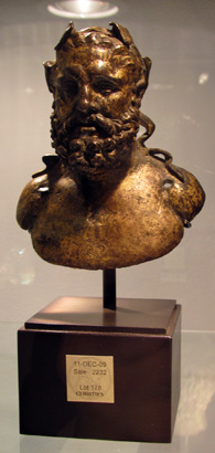 Gilt bronze bust of Hercules