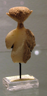 Anatolian marble female idol of the Kiliya type