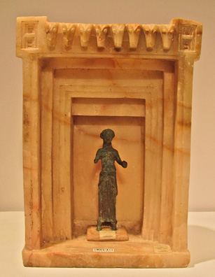 South Arabian altar with figure