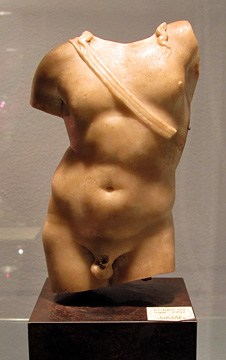 Roman marble torso of Apollo