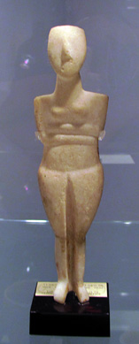 Cycladic marble female figure