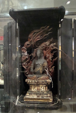 Wood figure of Wisdom King Fudo Myoo
