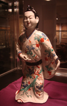 Porcelain figure of a dandy