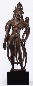 Silver inlaid bronze figure of Avalokitesharva
