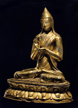 Gilt bnoze figure of Atisha