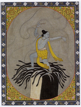 """Krishna Dancing on the Snake King"""