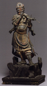 Wood figure of the Divine General Anila