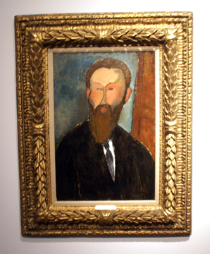 Portrait of photographer by Modigliani