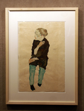 Watercolor of boy by Schiele
