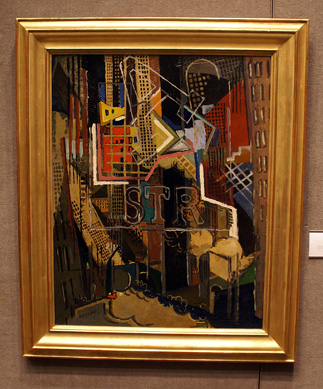 """New York"" by Gleizes"