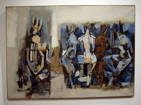 """Untitled work"" by Maqbool Fida Hussein"