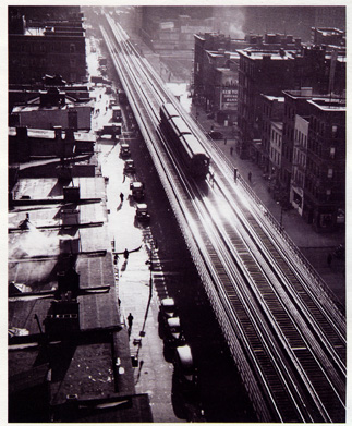 """El Train, Ninth Avenue"" by Feininger"
