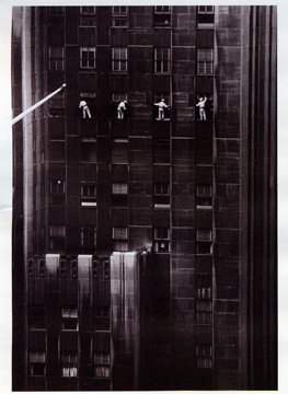"""Window Washers, 48th Street, New York"" by Morath"