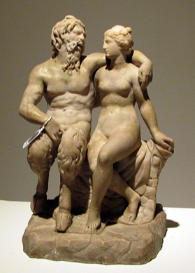 """Pan with a Nymph"" marble"