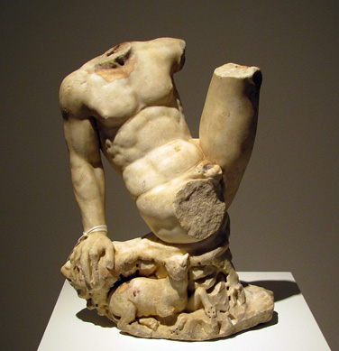 Roman marble statue of a satyr