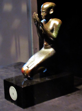 Egyptian statue of a kneeling priest