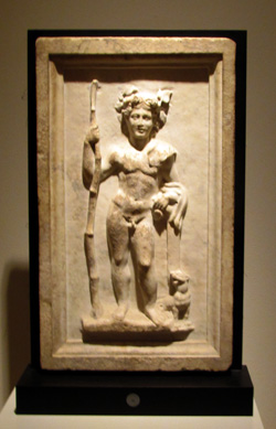 Roman marble relief of young Dionysus