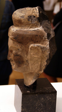 Limestone head of Buddha
