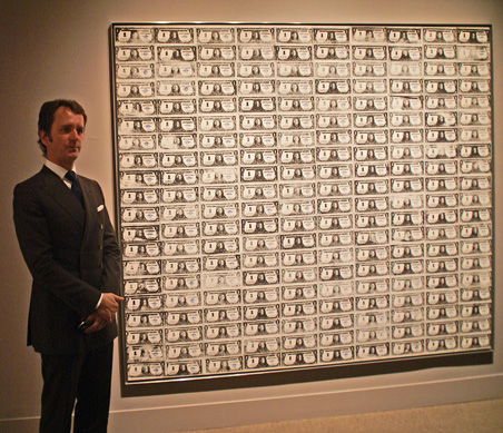 "Tobias Meyer and ""200 One Dollar Bills"" by Warhol"